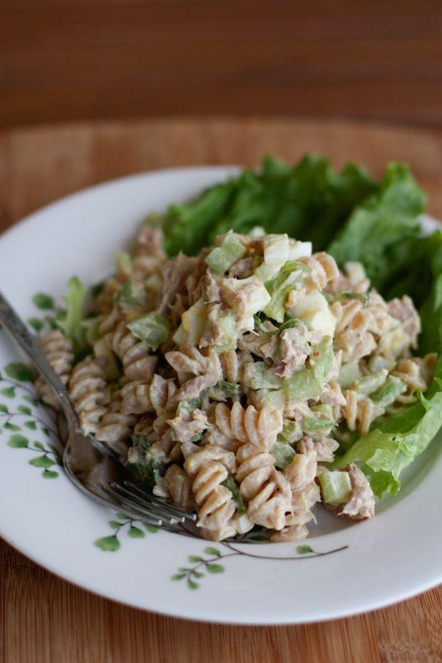 Tuna Pasta Salad With Greek Yogurt Recipe Creamy Tuna Pasta Healthy Pastas Tuna Pasta Salad Recipes