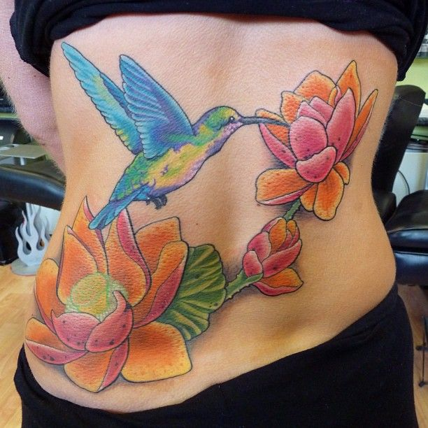 Hummingbird Lotus Tattoo Google Search Tattoos Hummingbird