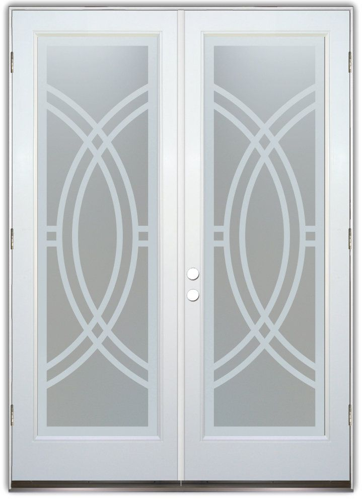 Arcs Ii Double Entry Doors Hand Crafted Sandblast Frosted And 3d Carved Available As Interior Or Ent Glass Doors Interior Glass Door Glass Front Entry Doors