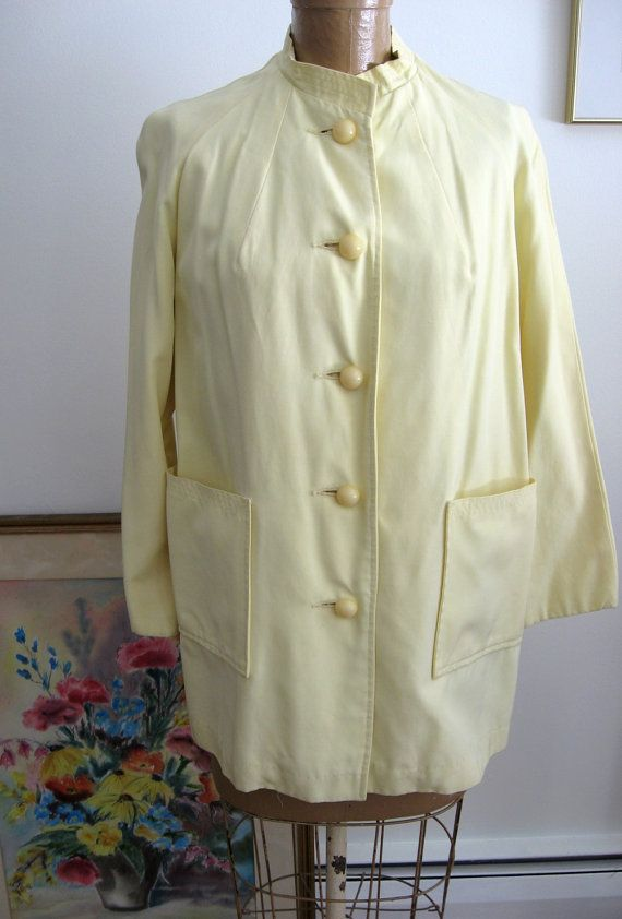 Vintage Raincoat Fashioned by Debutogs YELLOW Coat by vintagemb60