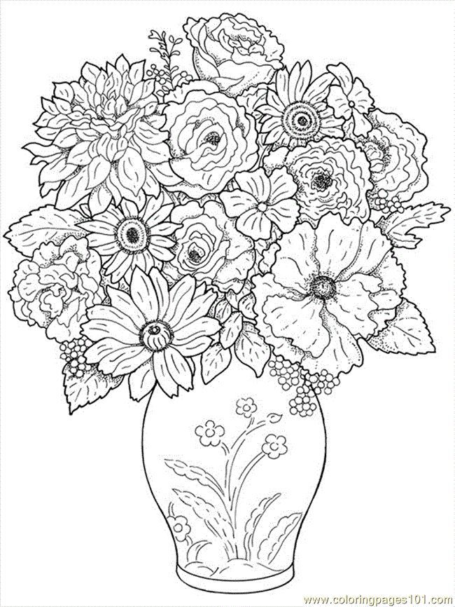 free printable coloring image flower coloring pages 24 http - Free Printable Coloring Page