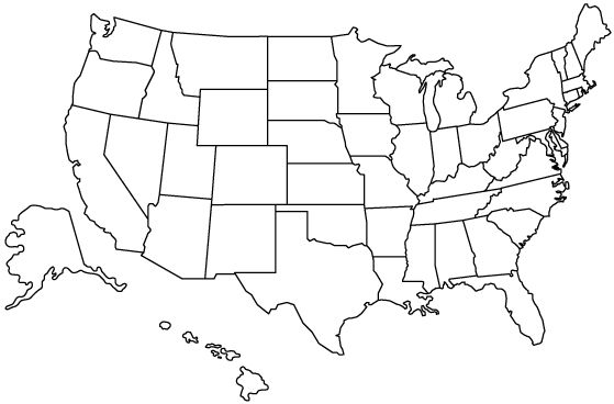 Clear Map Of The United States gallery us map of states without ...