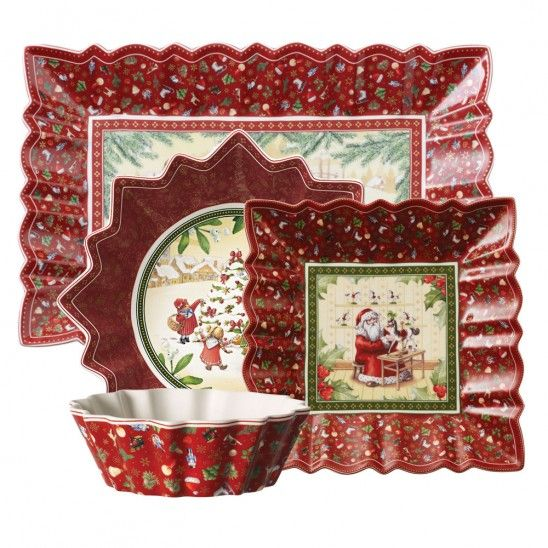 Villeroy Boch Toy S Fantasy Serverware Collection Christmas Dinnerware Holiday Dinnerware - Villeroy Amp Boch Bad Atelier Münster Gmbh