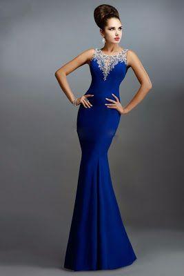 Vestidos De Noche Azul Rey En 2019 Vestidos De Gala