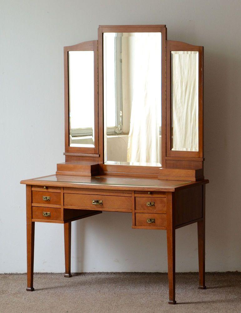 Tisch Sekretär Schreibtisch Jugendstil Schubladen Spiegel