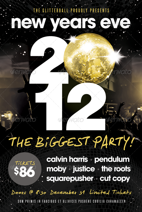 New Years Eve - Flyer Template | Flyer template, Template and ...