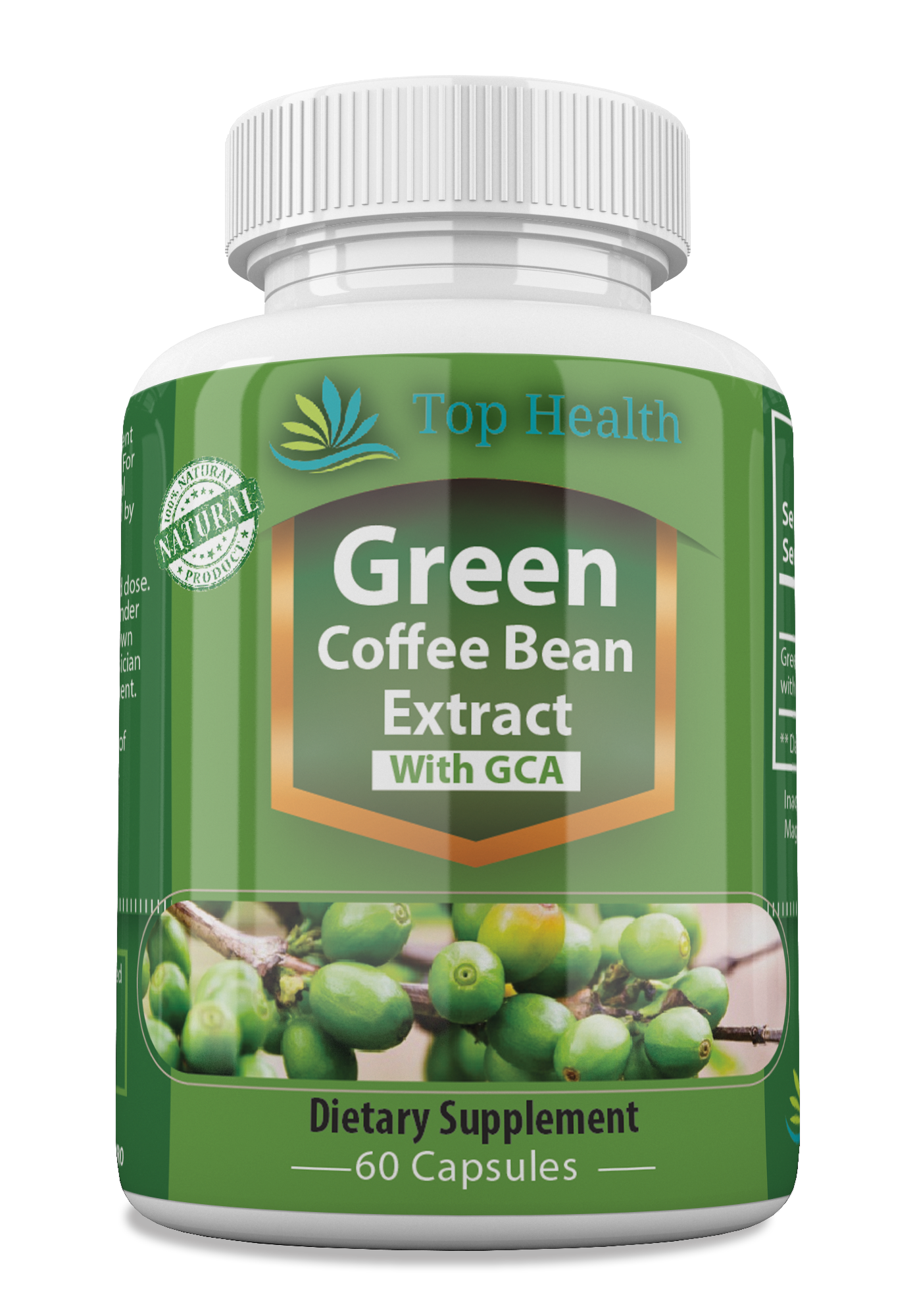 Green Coffee Bean Extract With 50 GCA Dietary Supplement
