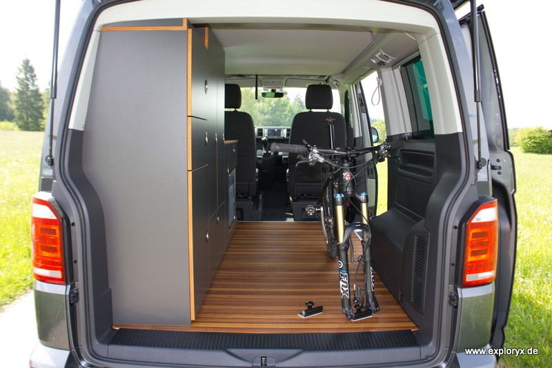 fahrradhalter im vw bus bulli umbau wohnmobil. Black Bedroom Furniture Sets. Home Design Ideas