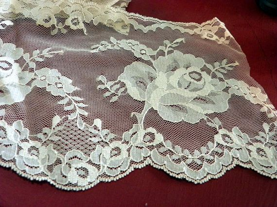 Vintage  Chantilly Lace Trim. Champagne. by PendragonFarm on Etsy, $11.95