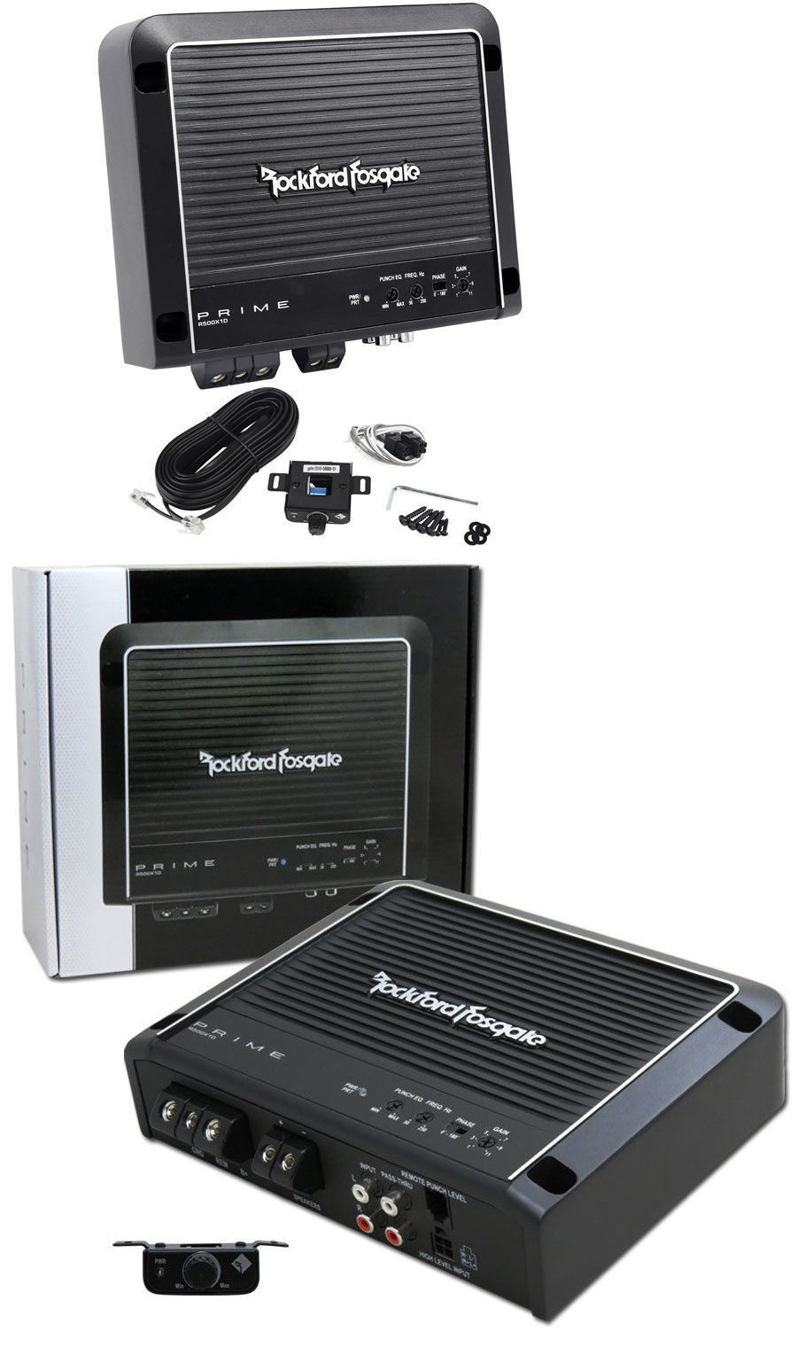 Car Amplifiers: Rockford Fosgate Prime R500x1d 500 Watt Rms