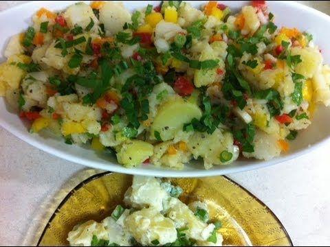 طريقة عمل سلطه البطاطس مدة الإعداد نصف ساعه المقادير ١ ١ ٢ كيلو بطاطس مسلوقة سلطة البطاطس بالمايونيز فص ثوم م Middle Eastern Recipes Potato Salad Salad