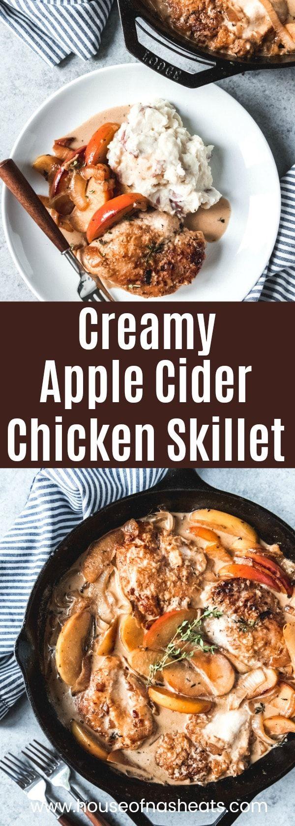 Creamy Apple Cider Chicken Skillet