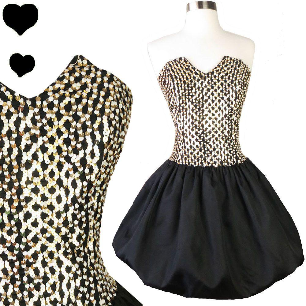 78fbb02fffa Vintage 80s Gunne Sax Bubble Skirt Dress S