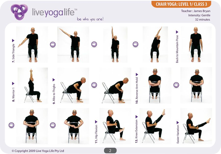 Easy Yoga Poses For Seniors | Yoga with a Chair Level 1 ...