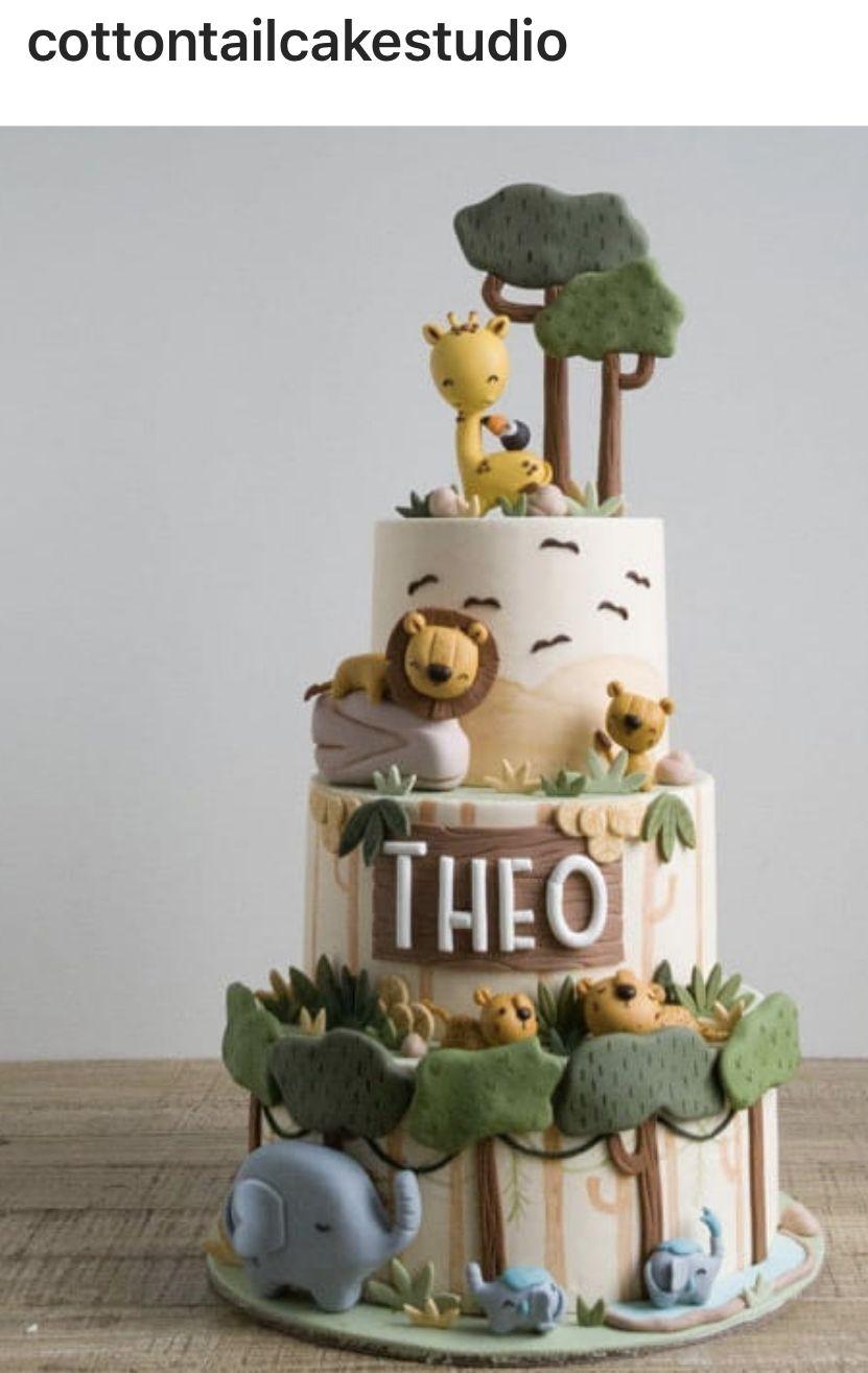 Tremendous Safari Cake Safari Baby Shower Cake Safari Birthday Cakes Funny Birthday Cards Online Alyptdamsfinfo