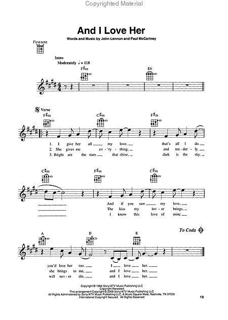 uke sheet music