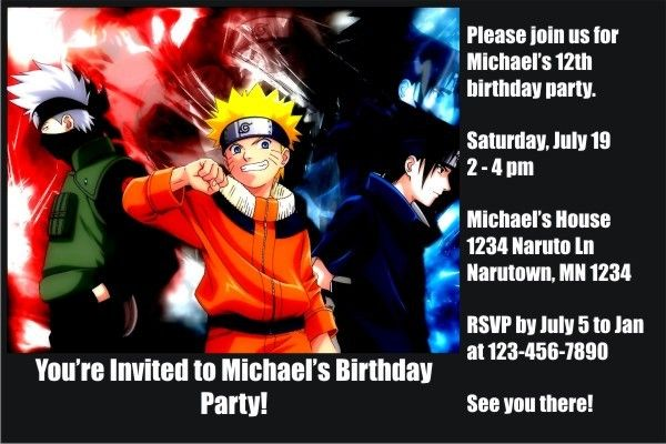 Naruto invitations click to personalize pinterest naruto series naruto invitations naruto invitations the birthday invitation is great for fans of the naruto series stopboris Choice Image