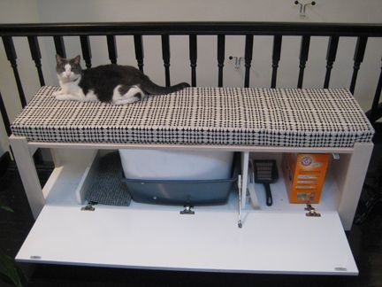 Exceptional DIY Litter Box Bench. Would Love To Make Something Like This.