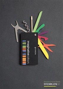 La Carte De Visite En Forme Couteau Suisse