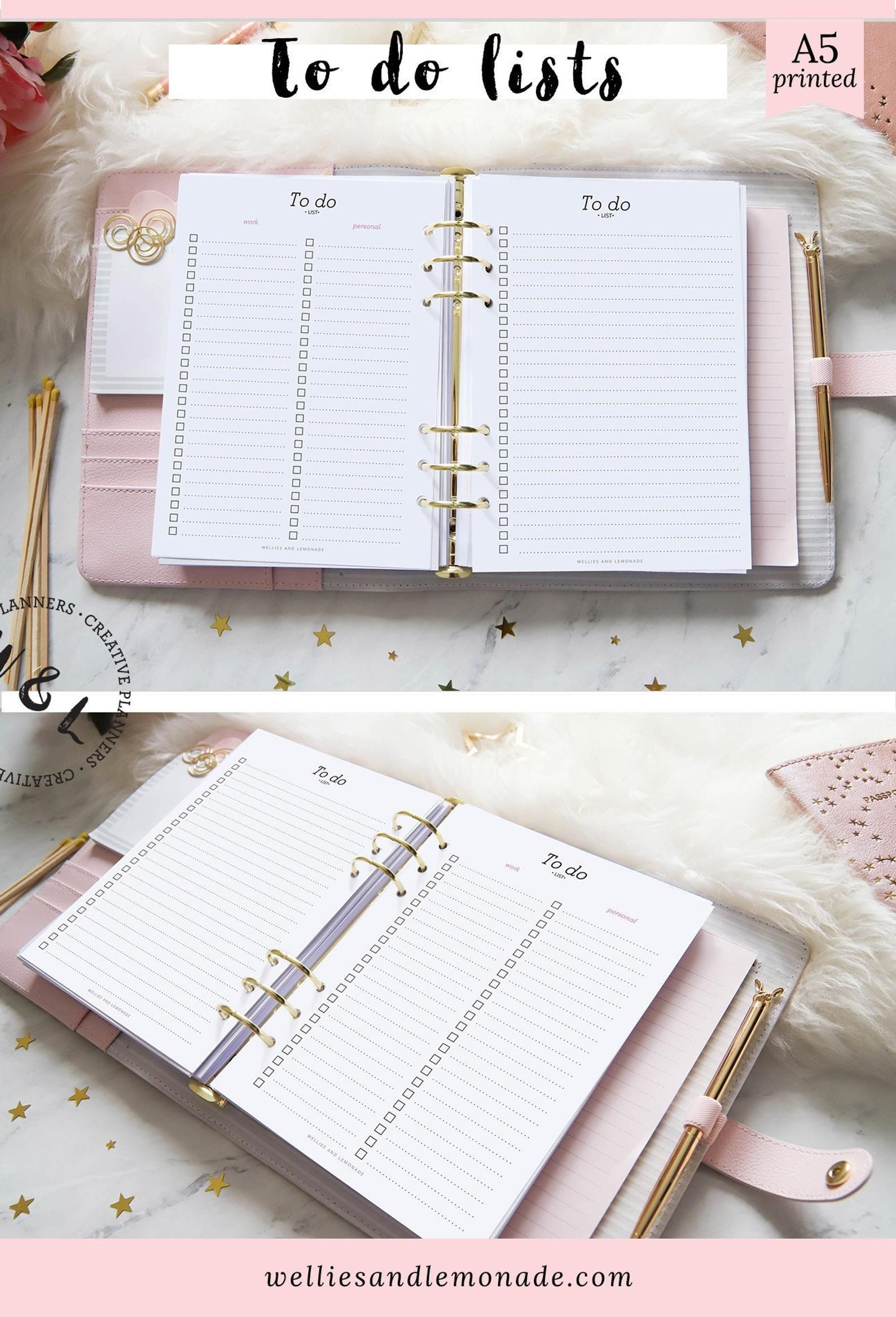 A5 Printed To Do List To Do List Template Daily Planner