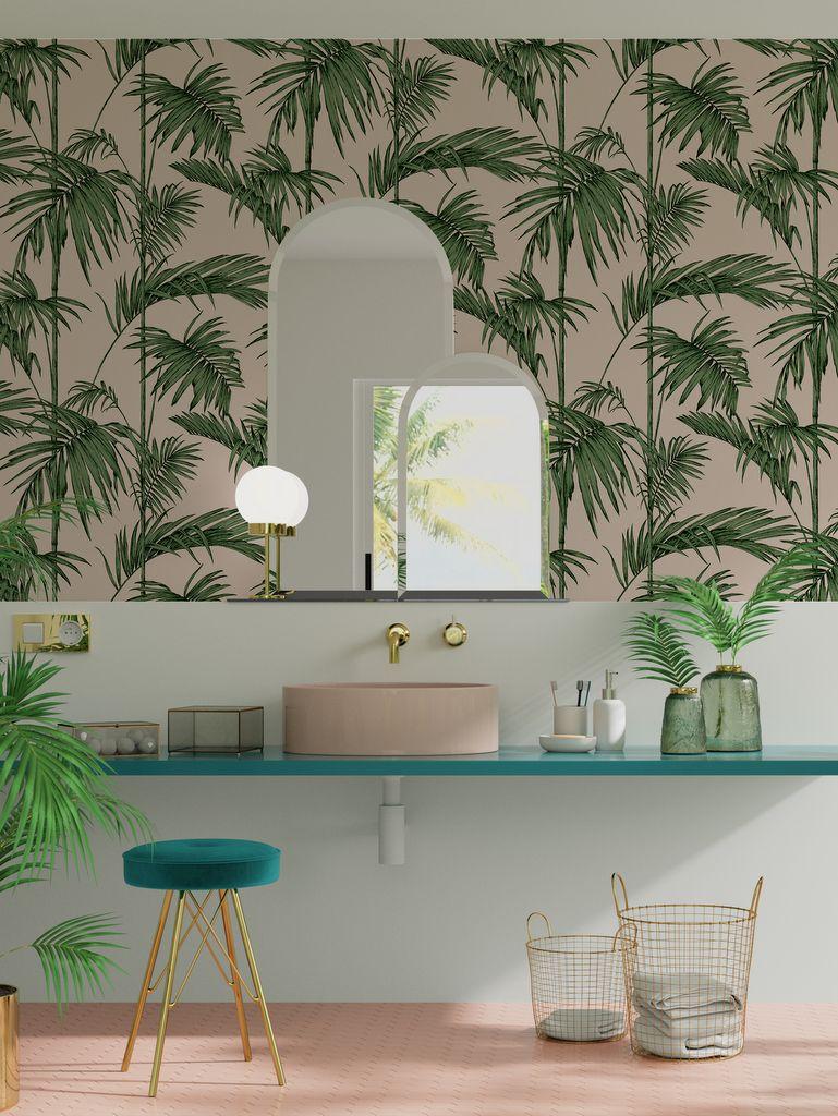 Une Deco Tropicale Dans La Salle De Bain Salle De Bain Tropicale