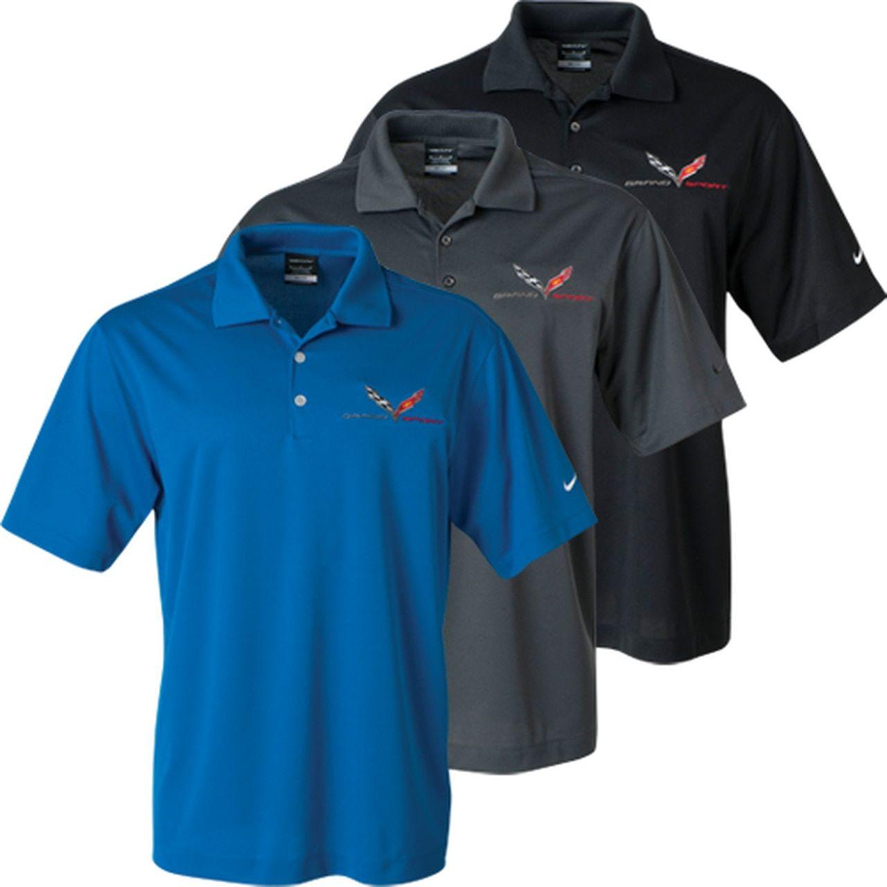 C7 Corvette Grand Sport Nike Dri Fit Polo Shirt Sports Polo Shirts Shirts Nike Polo Shirts