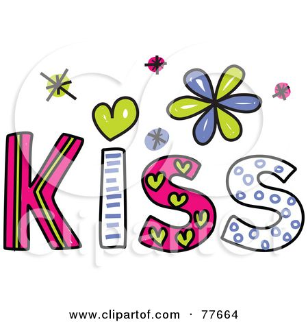 kisses clip art colors rf clipart illustration of a colorful rh pinterest com blowing kisses clipart blowing kisses clipart