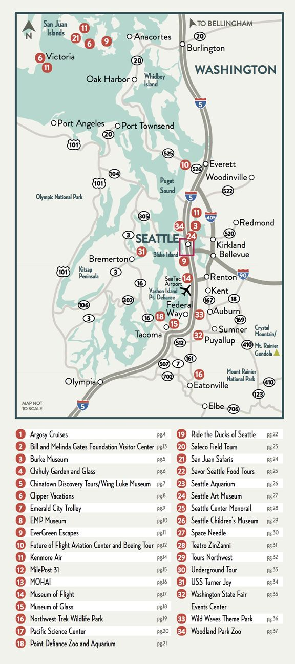 Downtown Seattle Attractions Map on
