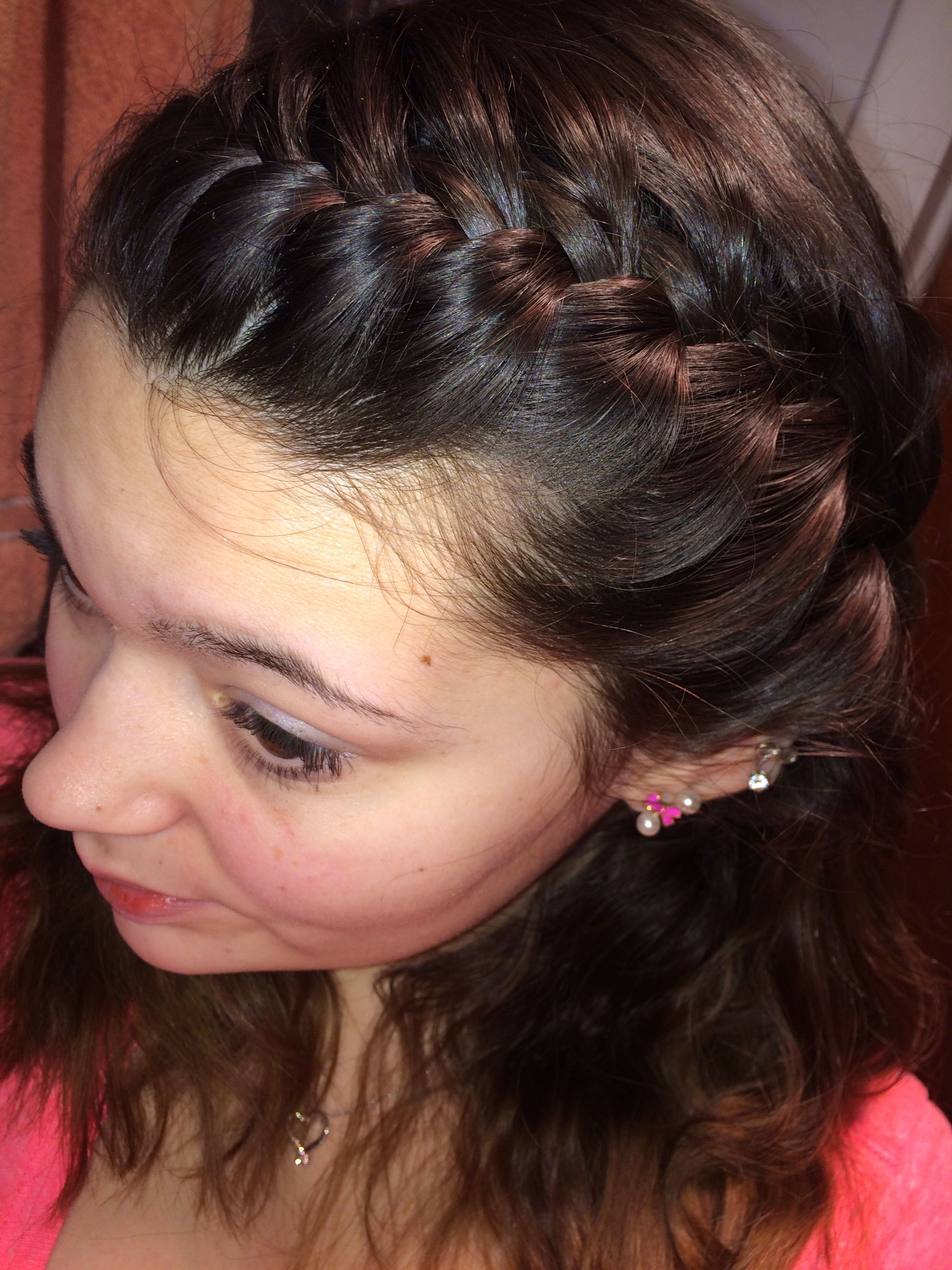 French braided bangs Hair styles Pinterest
