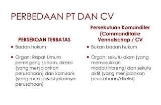 perbedaan cv dan pt dari aspek pembagian keuntungan dari segi