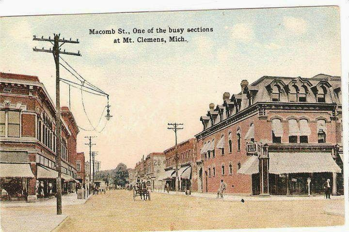 Old Postcard About Mt Clemens Michigan Detroit City Michigan Great Lakes