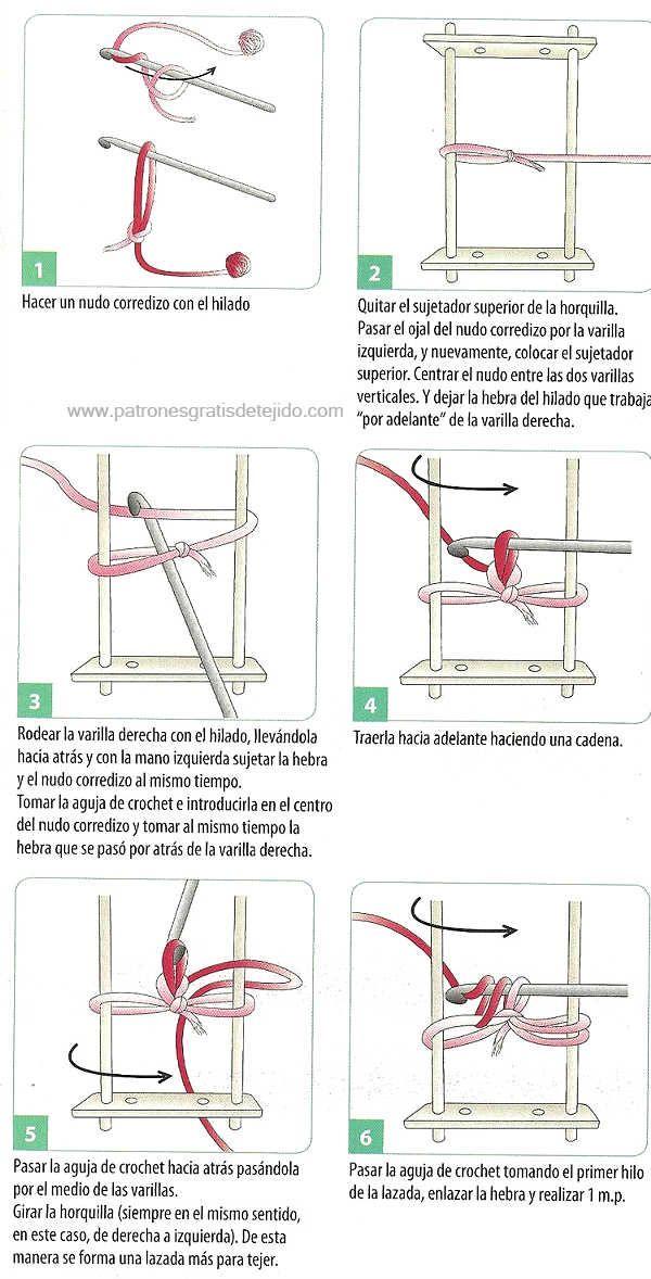 paso a paso como tejer con horquilla | Tejido | Pinterest