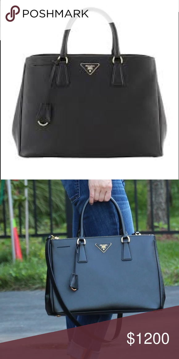 1abee239bfe5 Lux Open Tote Saffiano Leather Large Prada Lux Open Tote Saffiano Leather  Large is elegant in