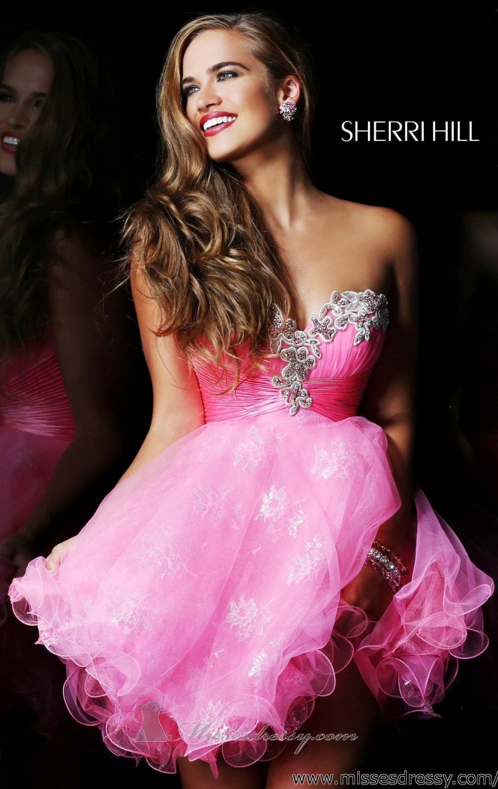 Strapless Embellished Dress by Sherri Hill   Vestiditos