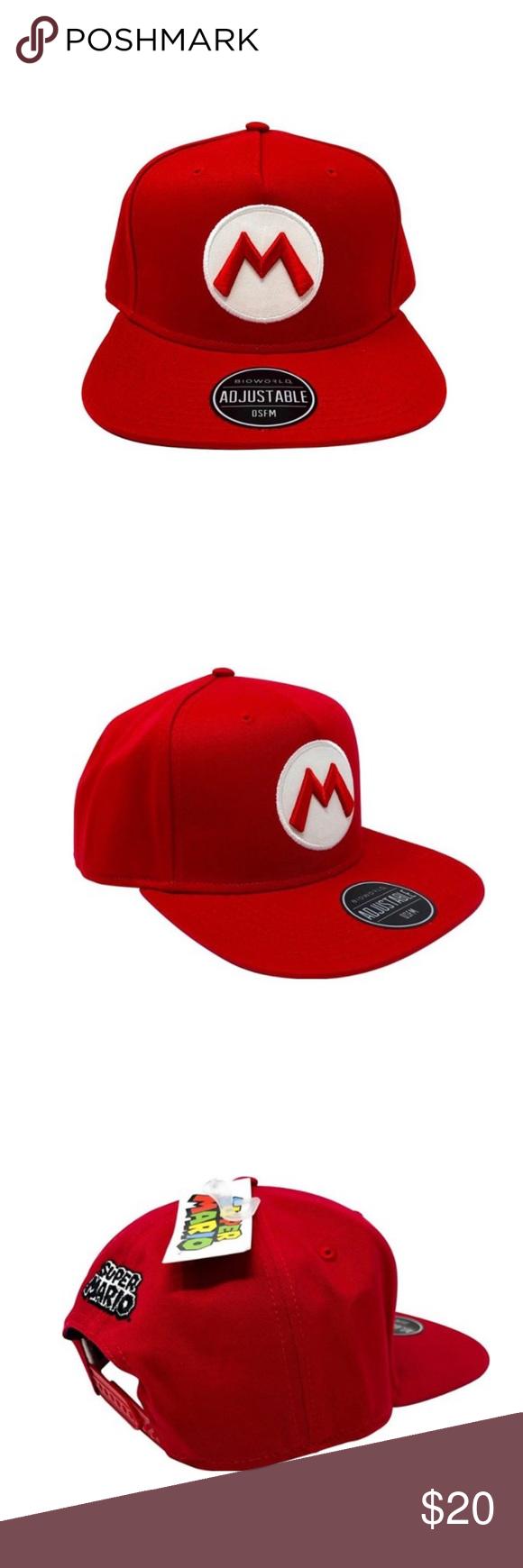 Super Mario Bros Red Adjustable Hat Cap Unisex Adjustable Hat Super Mario Bros Bros