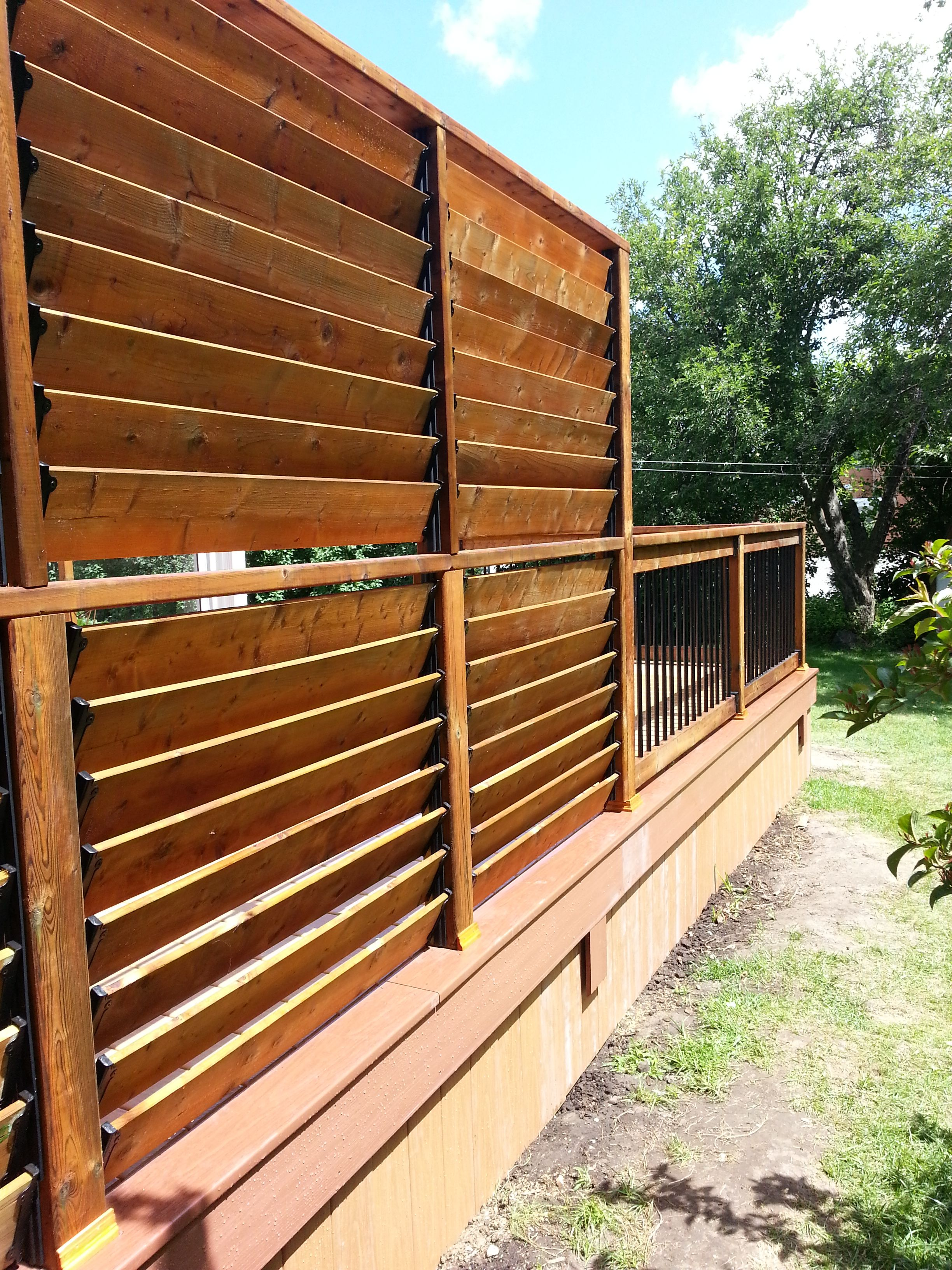 Charmant FLEXu2022fence Creation By Thommoknockers Custom Decks. Louver Extra Privacy  Deck.
