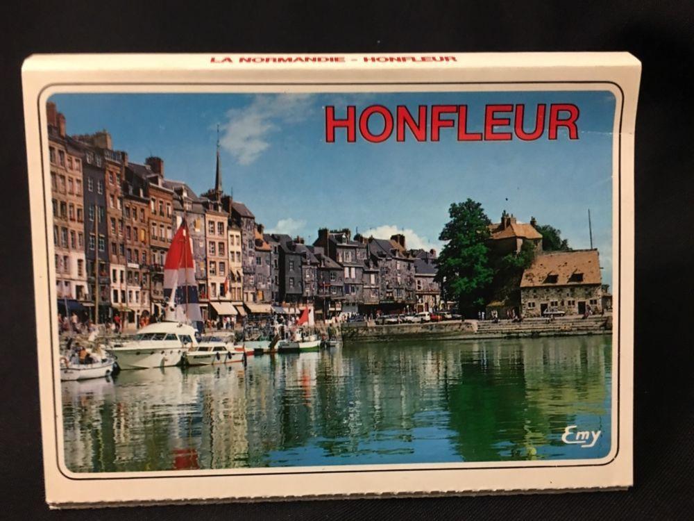 Vintage 10 Unposted FoldOut Postcards of Honfleur, France
