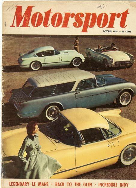 1954 Chevrolet Corvette Ad That Appeared In Vette Vues Magazine