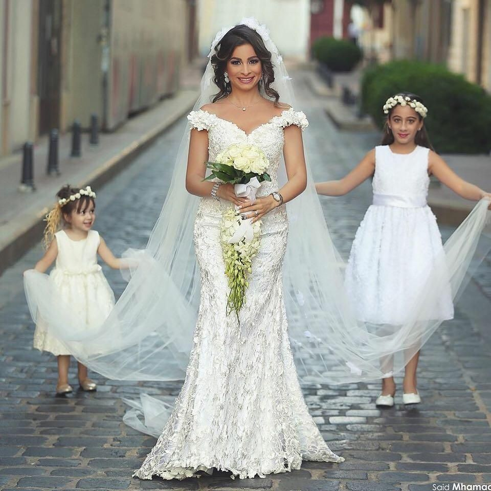 2015 Plus Size Lace Mermaid Wedding Dresses Off Shoulder Cap Sleeves ...