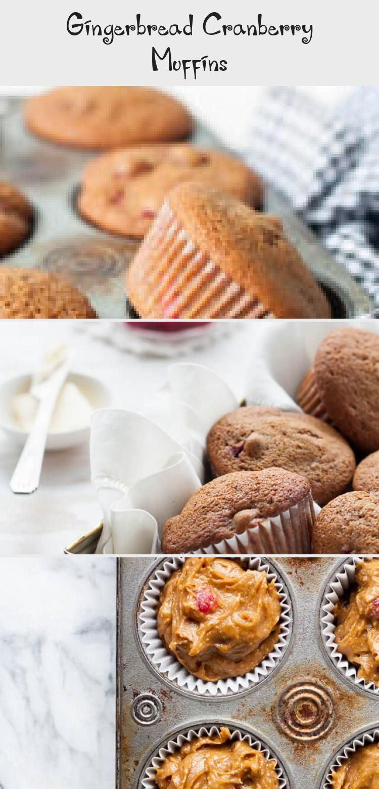 Photo of This gingerbread muffin recipe is made with cranberries for an easy Christmas br…