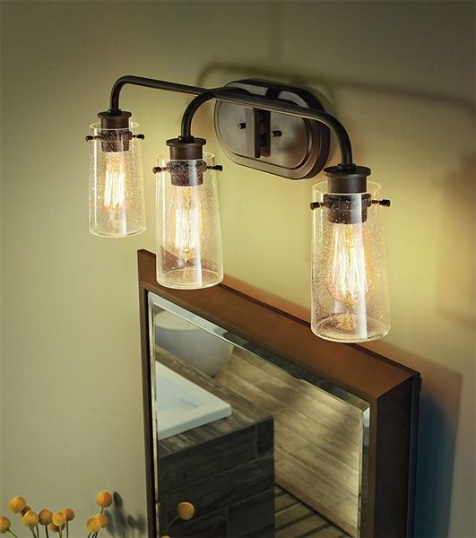 Kichler 45459OZ Braelyn Bath 3 Light | Bath Lights under $200 ...