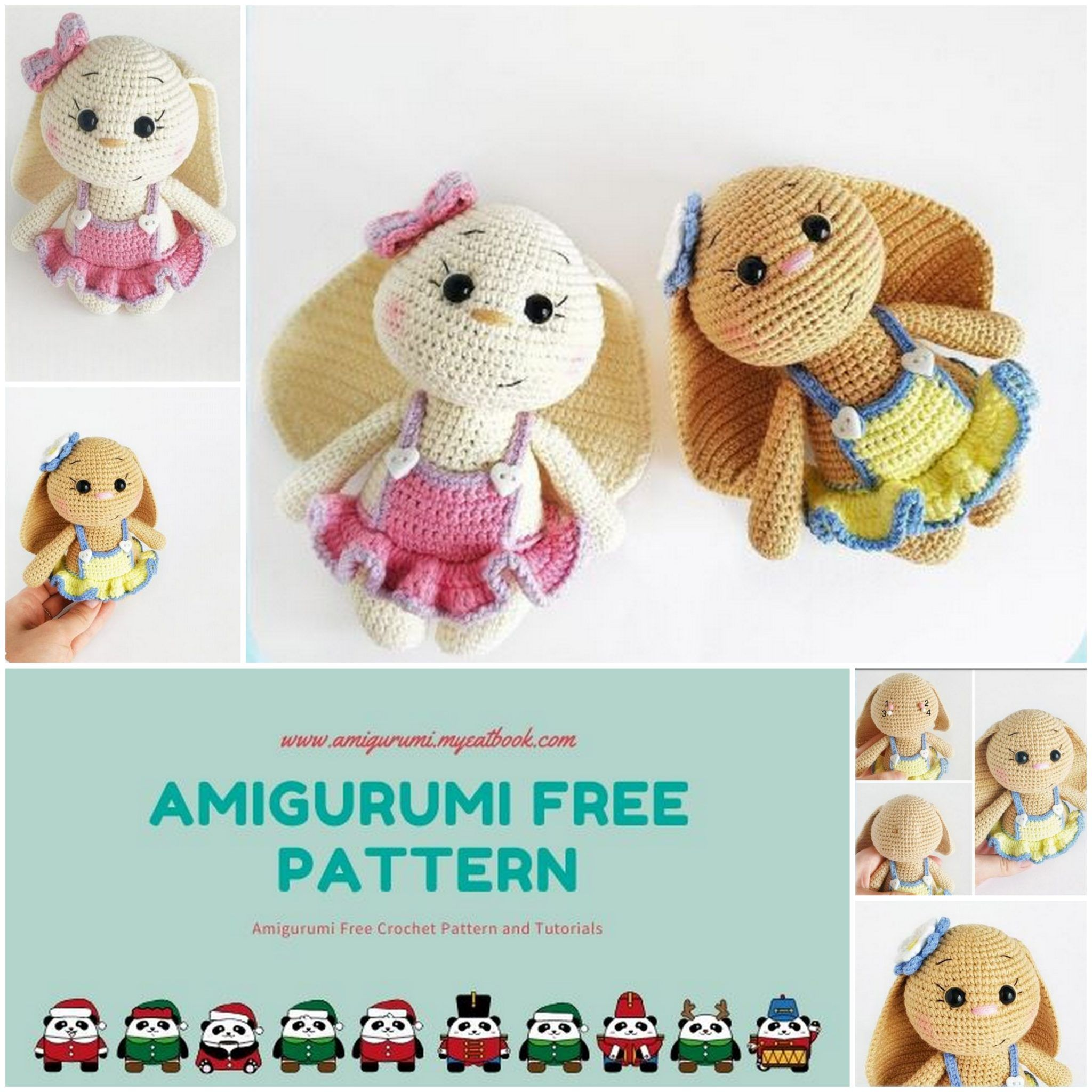 amigurumi bunny pattern free | Artisan Crafts / Dolls, Plushies ... | 2048x2048
