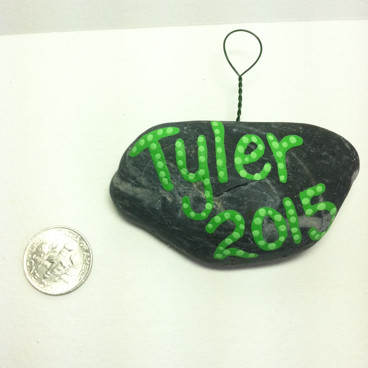 Personalized ornaments for kids - Personalized Hanging Ornaments Any Occasion Name And Year Painted Rock Ornaments Kids