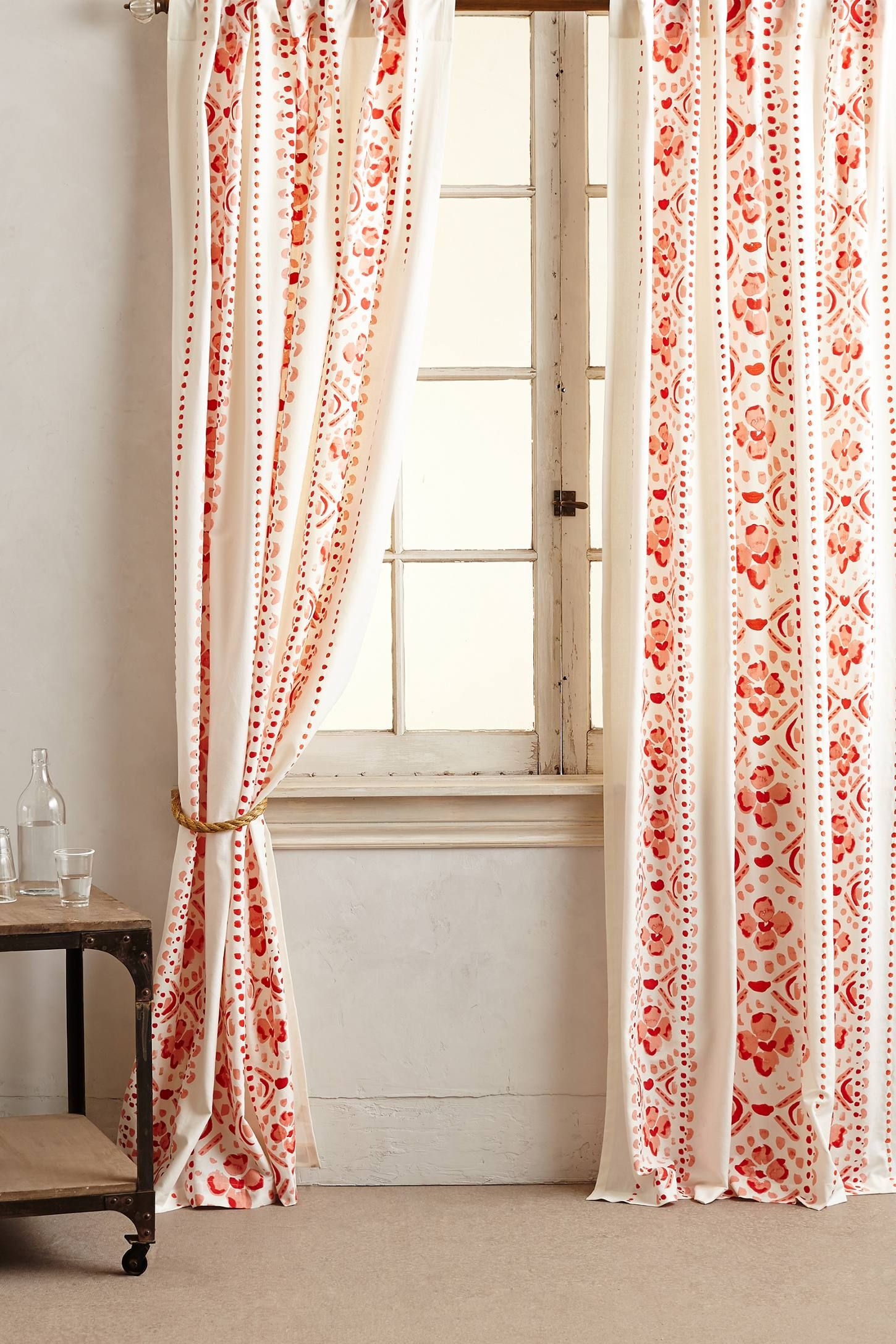 Lovely Curtains for orange Room