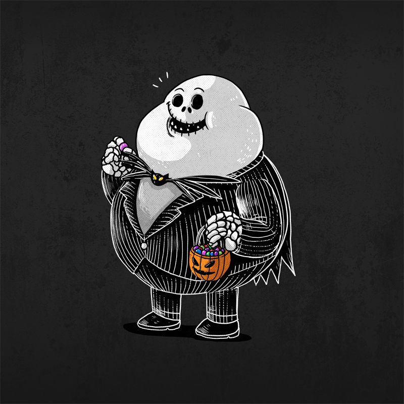 jack skellington from the famous chunkies series by alex solis super cute but with a message too