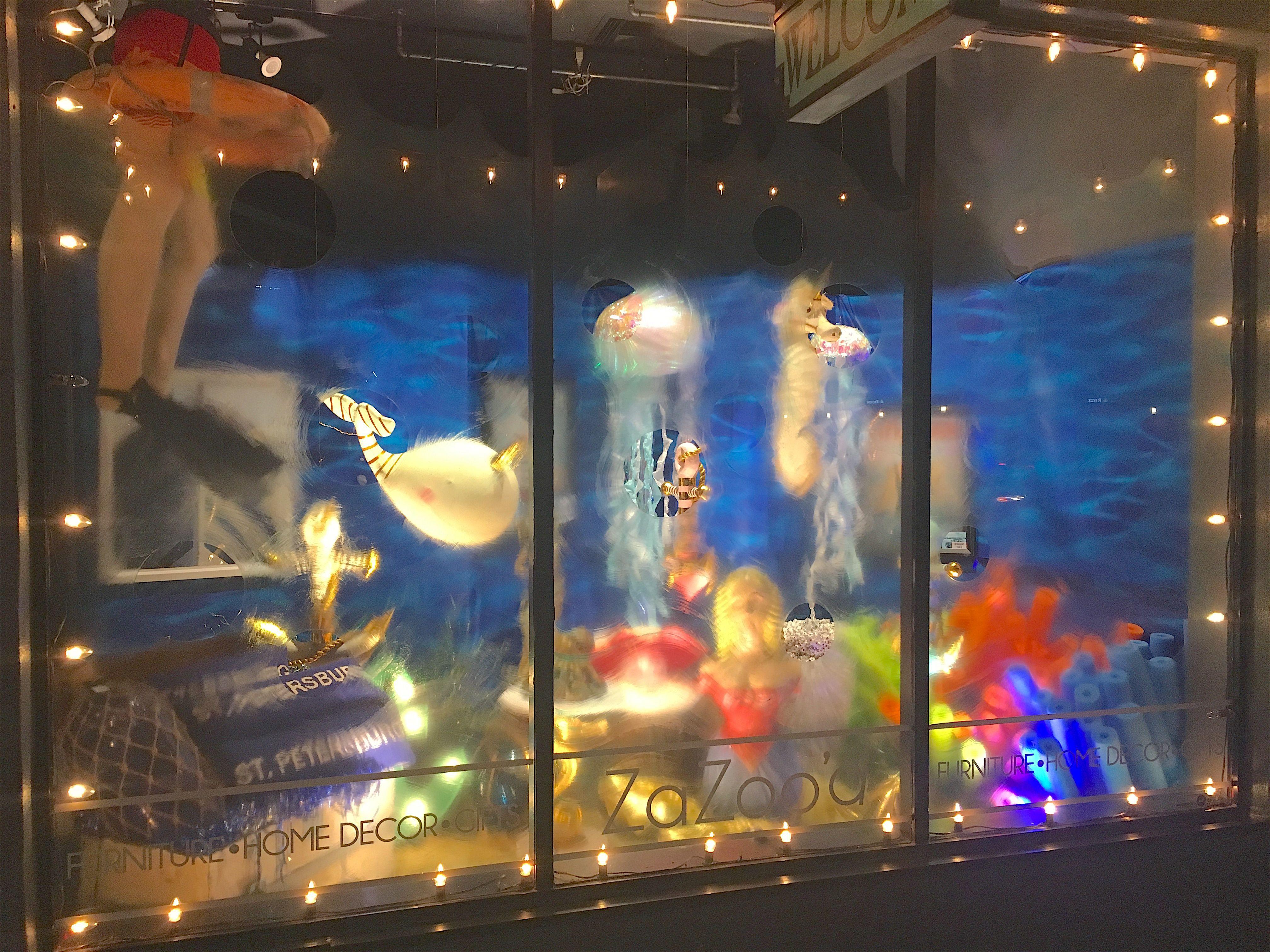 "ZaZoo d summer 2017 ""Under the Sea"" window Peek through the bubbles"