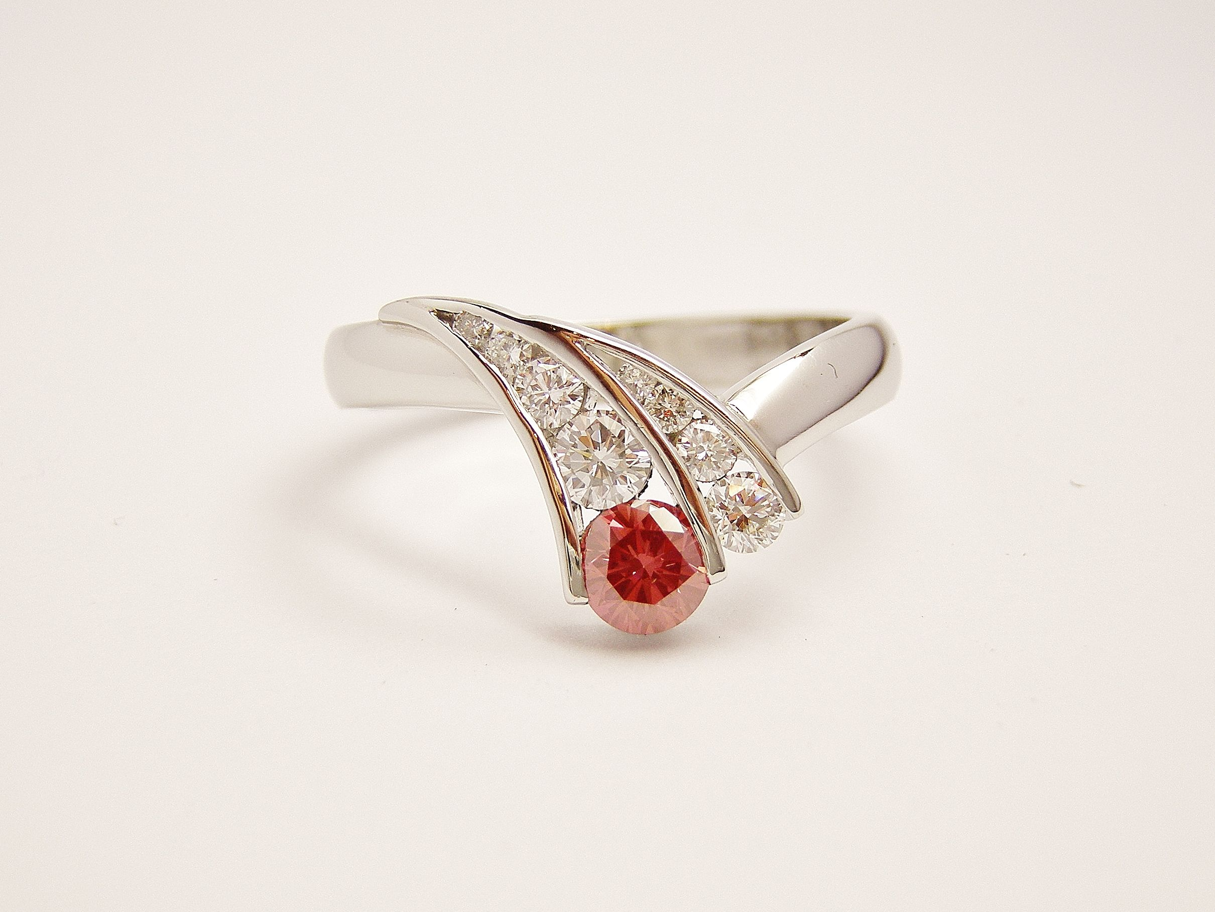 Elegant Ruby and Diamond Wedding Band