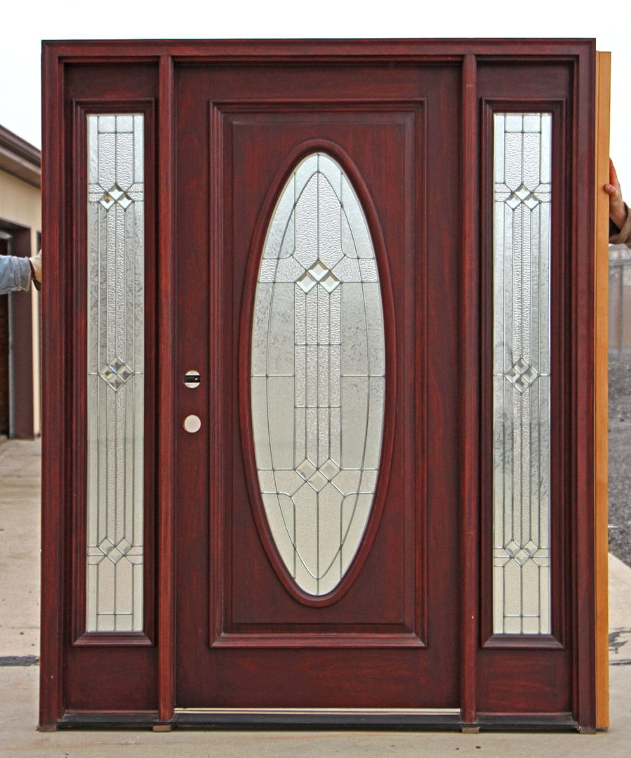 Beautiful Stained Glass Entry Door Sidelights