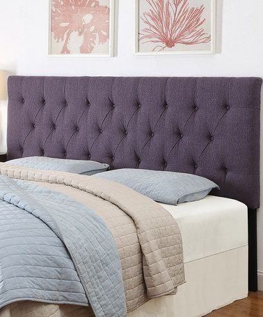 Stallion Purple Upholstered Headboard Panel Headboard Headboard Designs Furniture