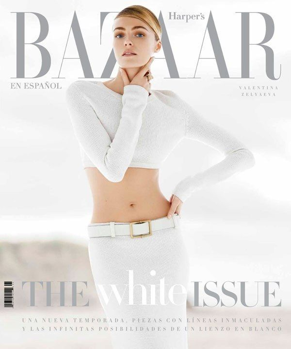 Valentina Zelyaeva Poses for Hans Neumann in Harpers Bazaar Latin America